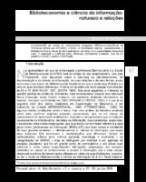 Biblioteconomia e ciência da informação