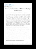 Comunicação e acesibilidade em biblioteca na era digital