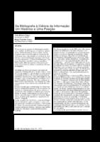 Da Bibliografia à Ciência da Informação